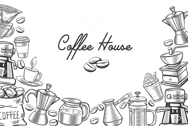 Page de modèle de café