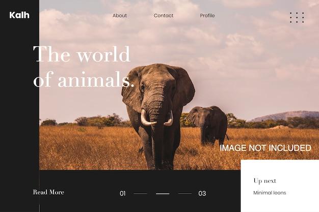 Page de modèle information sur les animaux web