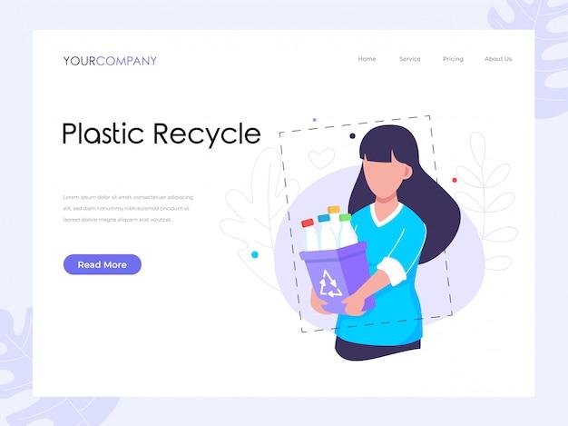Page de recyclage du plastique
