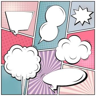 Page de style comic pop art