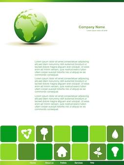 Page vectorielle de conception de terre modifiable