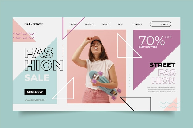 Page de vente de mode