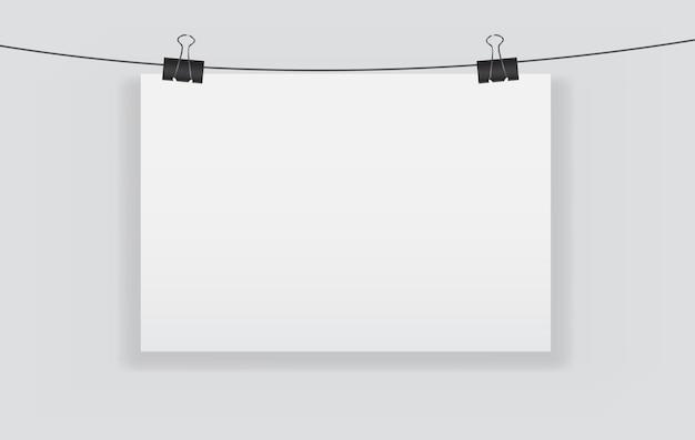 Page vierge blanche avec illustration vectorielle de clip