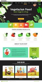 Page web aliments écologiques