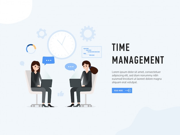 Page web d'atterrissage de gestion du temps