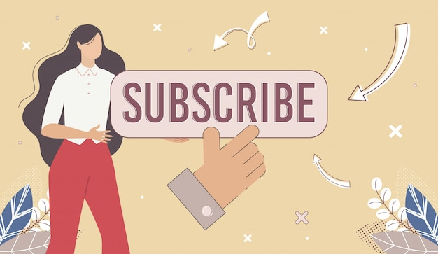 Page web blogger, channel subscribebanner