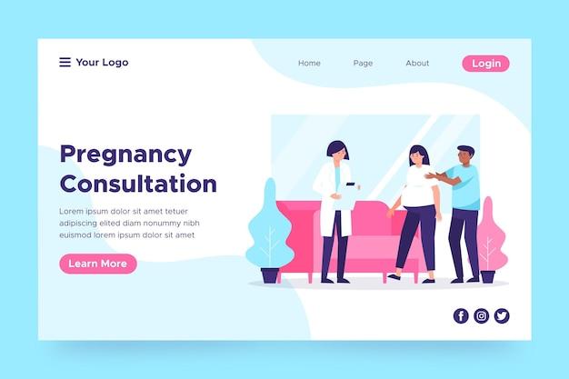 Page web de consultation de grossesse