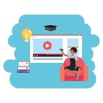 Page web de la génération du monde de l'éducation en ligne