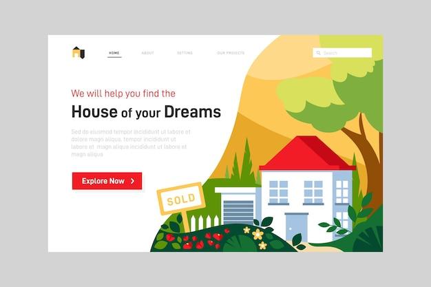 Page web de l'immobilier