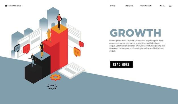 Page web isométrique de croissance