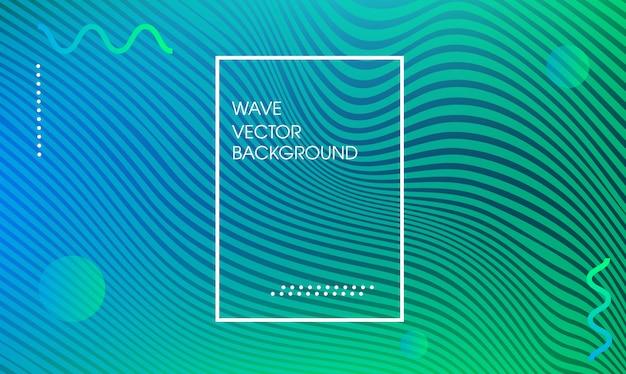 Page web tendance des lignes de vagues
