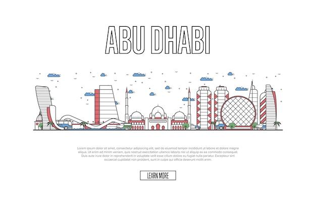 Page web voyage abu dhabi en style linéaire