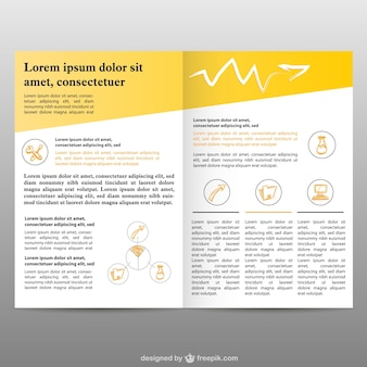 Pages de la brochure gratuite fond