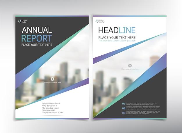 Pages de couverture du rapport annuel