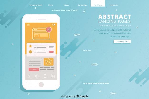 Pages de destination abstraites avec dispositifs technologiques