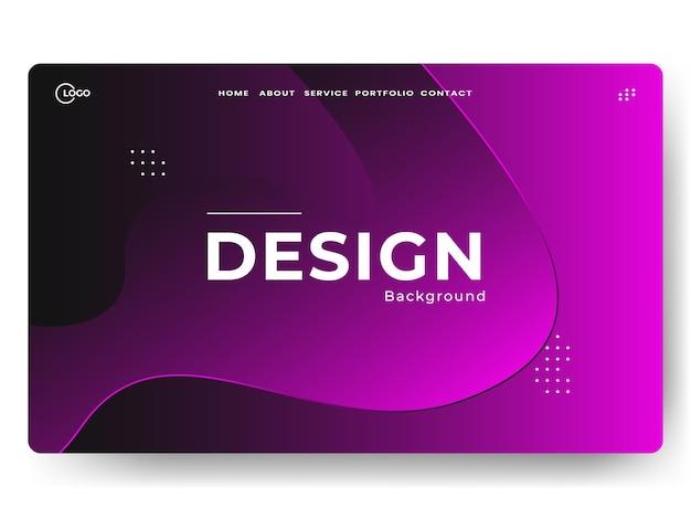 Pages de destination abstraites à la mode, peuvent être utilisées pour le développement web