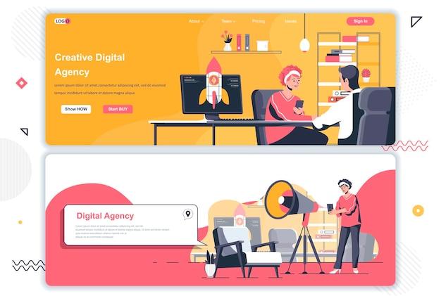 Pages de destination des agences créatives