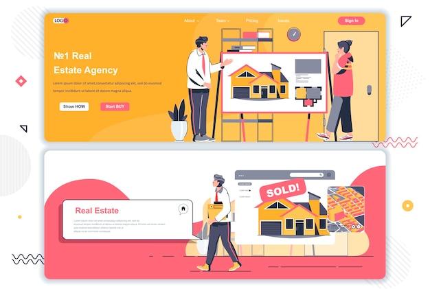 Pages de destination des agences immobilières