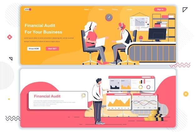 Pages de destination de l'audit financier