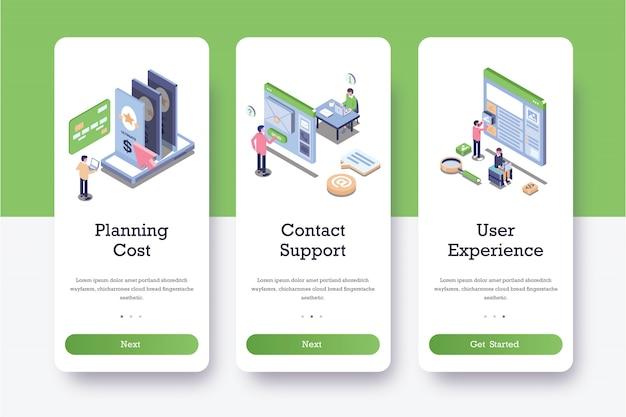 Pages d'intégration des coûts de planification