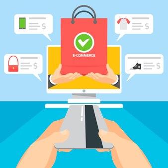 Paiement avec carte de crédit après achat en ligne