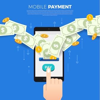 Paiement de concept de design plat. mode de paiement et option ou canal de transfert d'argent. illustrer.