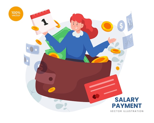 Paiement du salaire avec l'employé recevoir de l'argent