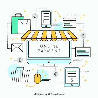Paiement en ligne, différents articles