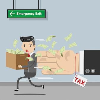 Paiement de l'impôt, imposition du gouvernement de l'état, calcul de l'impôt pour la période d'imposition