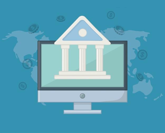 Paiement en ligne icon set design