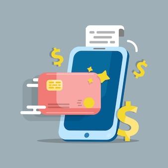Paiement en ligne. paiement par smartphone