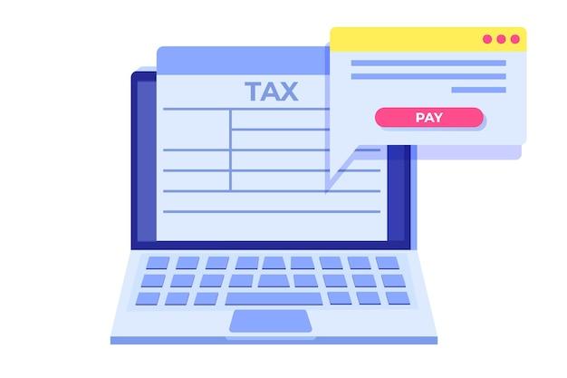 Paiement en ligne des taxes, paiement, facture