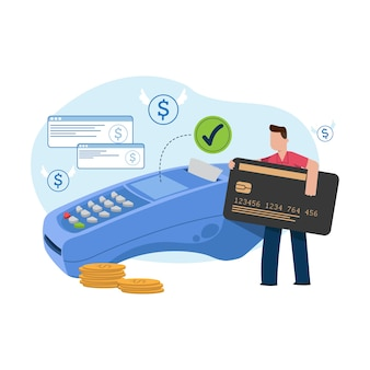 Paiement par carte de crédit concept pour la page de destination