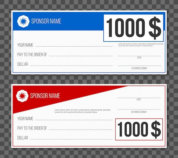 Paiement par chèque gagnant