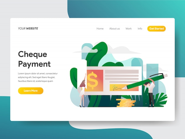 Paiement par chèque pour la page web