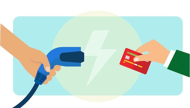 Paiement par recharge de voiture électrique avec carte de crédit