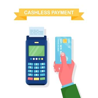 Paiement sans numéraire par carte de crédit ou de débit