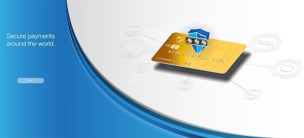 Paiements sécurisés dans le monde entier. transferts de cartes d'argent et transactions financières.