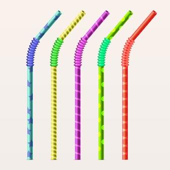 Pailles à boire colorées