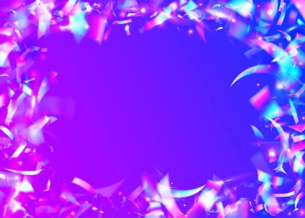 Paillettes de carnaval. confettis arc-en-ciel. festival disco serpentine. cristal art. guirlande kaléidoscope. paillettes de flou rose. bannière brillante. feuille brillante. violet carnaval glitter