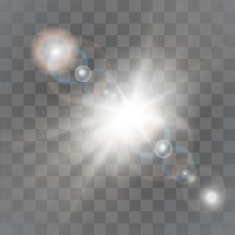 Paillettes d'étoiles blanches et dorées