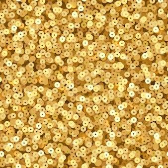 Paillettes de luxe dorées.