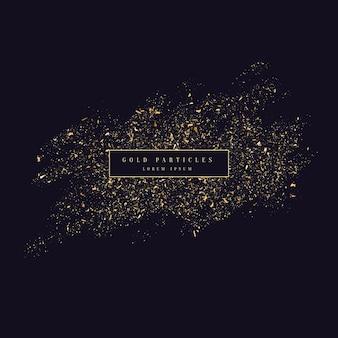 Paillettes d'or. particules brillantes sur fond sombre. illustration vectorielle