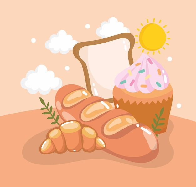 Pains et cupcakes