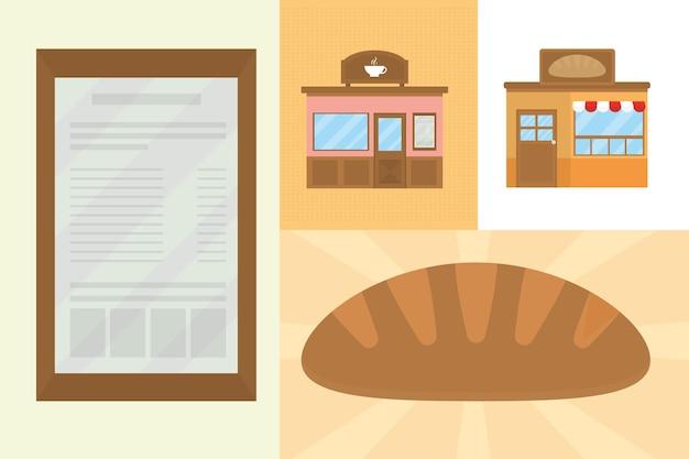 Pains et magasins d'alimentation