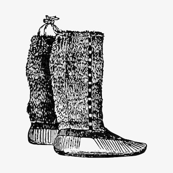 Paire de bottes eskimo