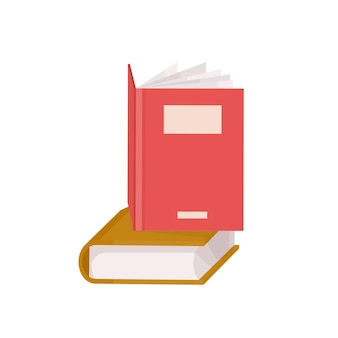 Paire de livres à couverture rigide