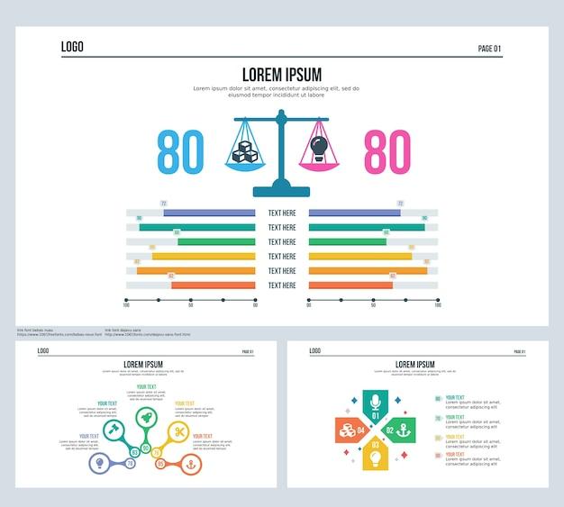 Paire de neraca de comparaison paire de diapositives de présentation de diapositives et powerpoint