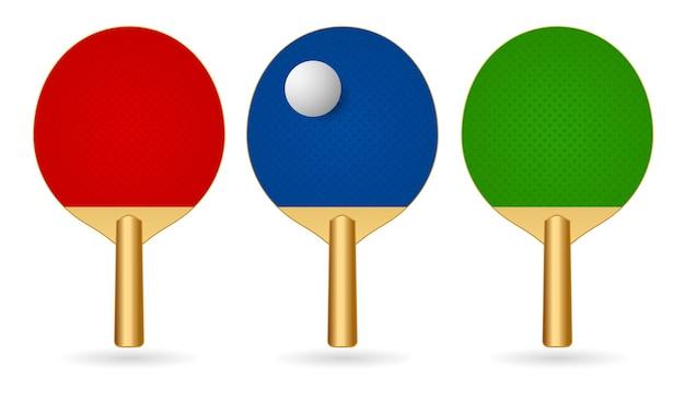 Paire de raquettes de ping-pong avec icône de balle