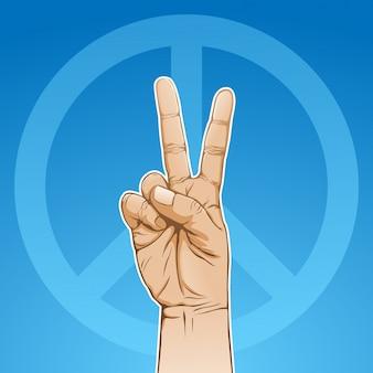 Paix de la main, signe de la victoire